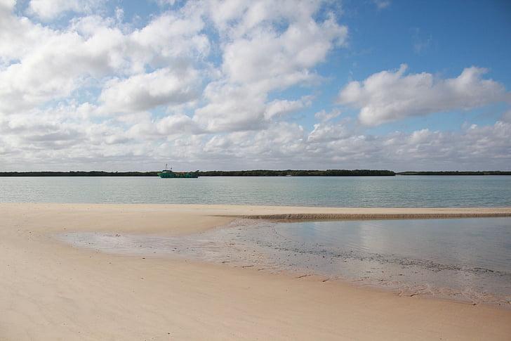 Mar, zout, strand, zand, zandstrand