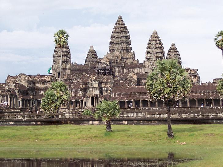 Ангкор Ват, храма, Камбоджа, пейзаж