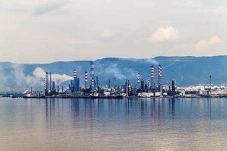 oil, i petkim, tüpraş, kocaeli, turkey, marine, landscape