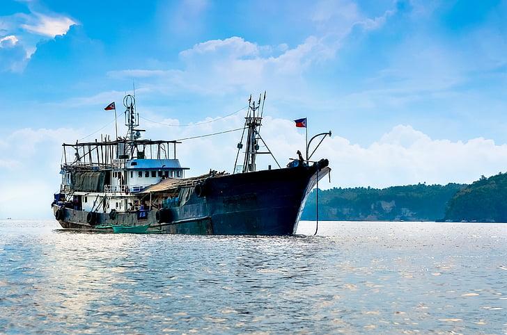 havet, fartyg, Filippinerna, blå, vatten, resor, nautisk