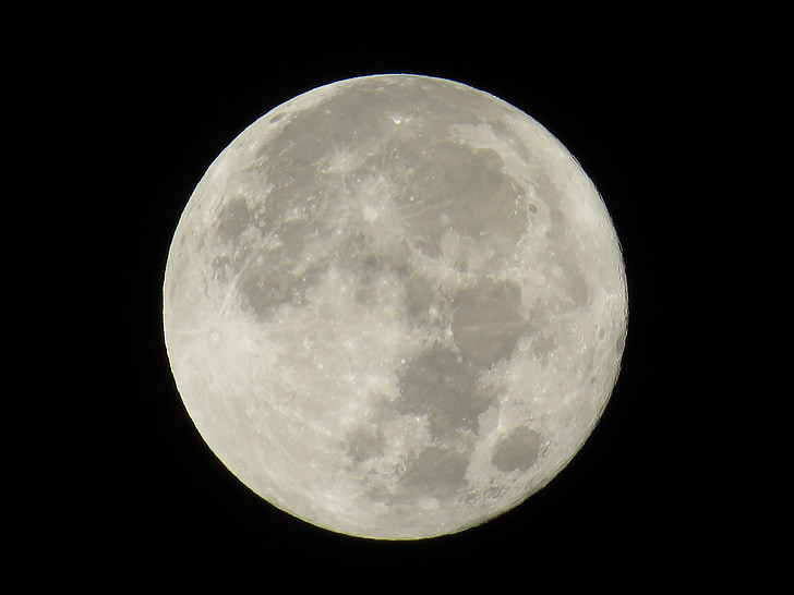місяць, Японія, ніч з повним місяцем, супутник, астрономія, ніч, повний місяць
