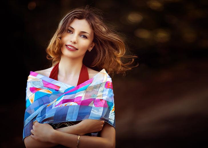 Vải, khăn quàng, màu sắc trang phục, ăn mặc, người nghèo, lắc tay, tóc