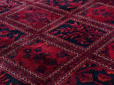 Dywan, czerwony, Sprzedaż wiązana, jedwab, Wełna, centrum tkania dywanów, splot