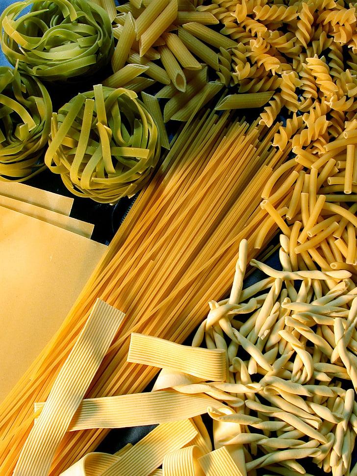 fideus, pastes, aliments, vegetariana, Espaguetis, Penne, cuina italiana