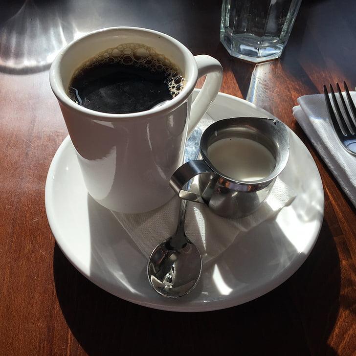 koffie, hete, drankje, Beker, Espresso, Café, aroma
