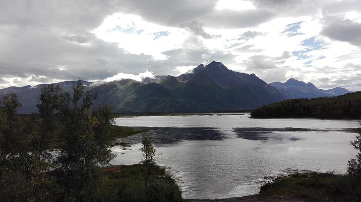 Alaska, muntanya, paisatge, l'aigua, Mar