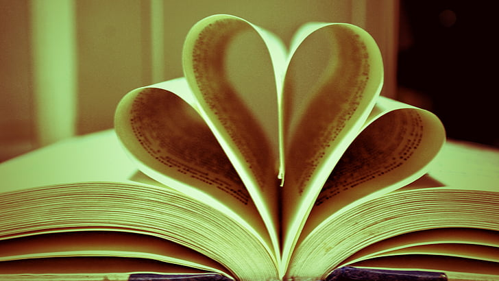 book, heart, love