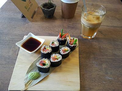 sushi, japonès, aliments, deliciós, Restaurant, dinar, plat