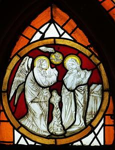 prozor, Crkva, Crkveni prozor, boja, staklo, slika, Božić