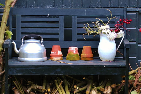 bodegons, jardí, flor, natura, primavera, imatge, fusta - material