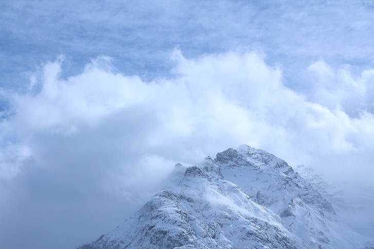 mountain, clouds, mountain weather, mountains, mountain peaks, mountain world, alpine