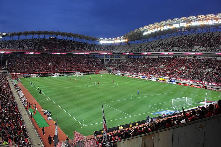 Estadi, camp, lloc de celebració, futbol, futbol, multitud, espectadors