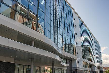 arquitectura, edificis, Hospital, Enschede, nova construcció, moderna, finestra