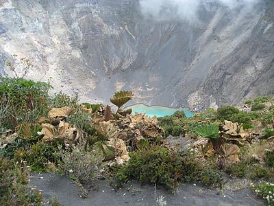 volcano, costa rica, landscape, lake, mountain