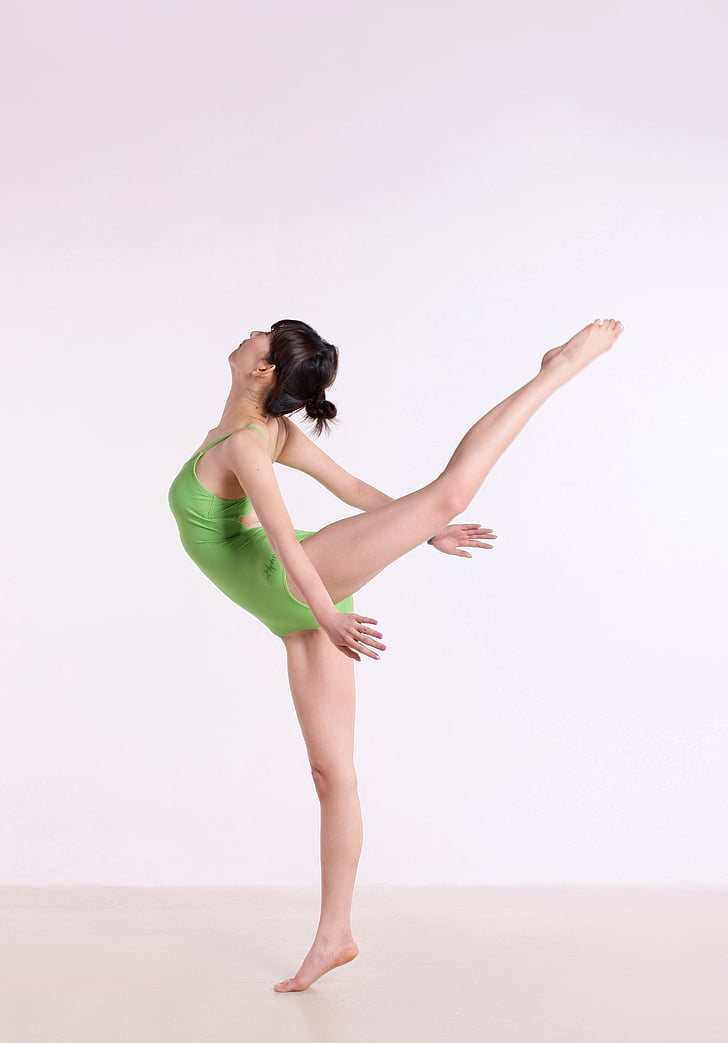 china, yoga, dance, weights, female, posture, full length