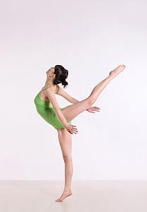 中国, ヨガ, ダンス, 重み, 女性, 姿勢, 完全な長さ