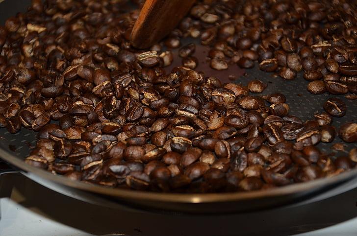 cafè, cafè torrat, grans de cafè