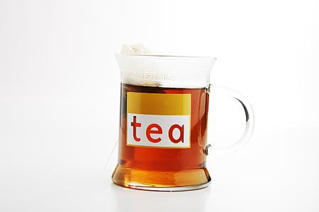 t, aroma, sacos de chá, calor, bebida quente, gosto, bem estar