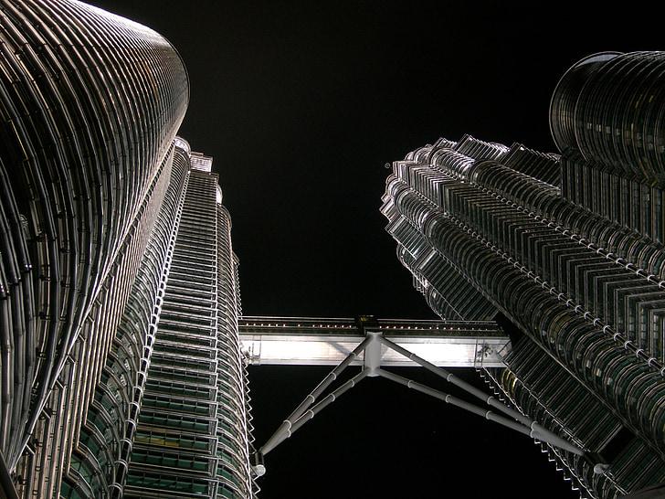 petronas towers, kuala lumpur, malaysia, asia, klcc