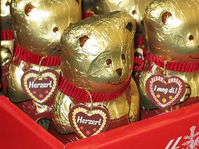 bear, sweetness, chocolate, sugar, sweet, delicious, eat