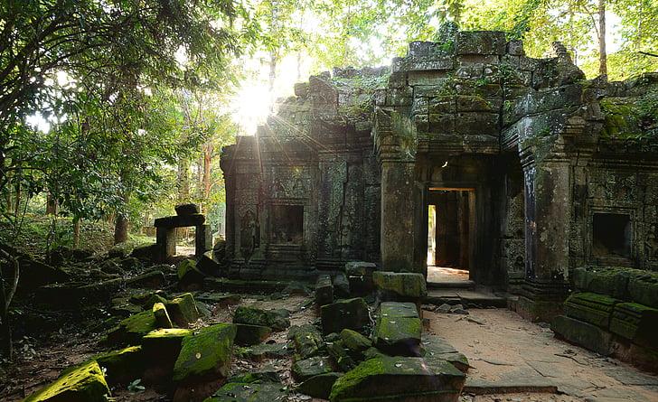Siem reap, Sommer, Licht, Asien, Kambodscha, Angkor, Tempel - Gebäude