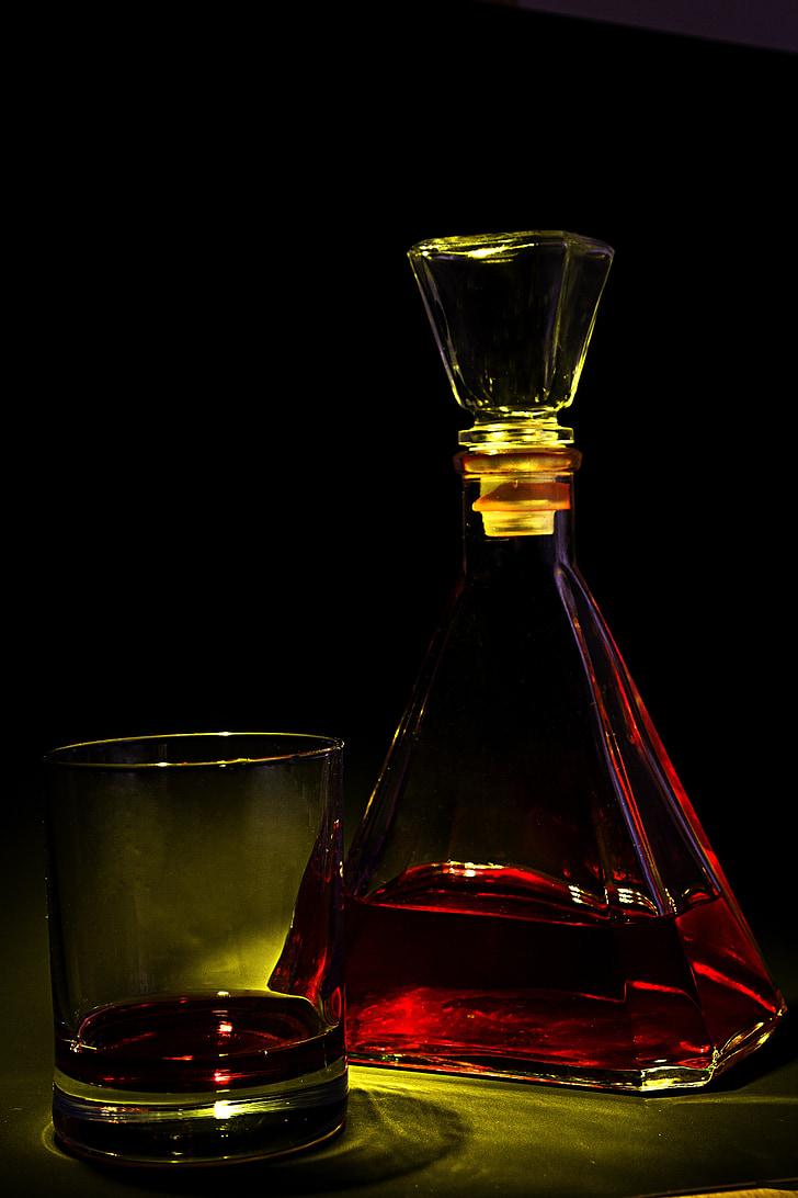 Brandy, klaas, jook, alkoholi, Baar, viski, viski
