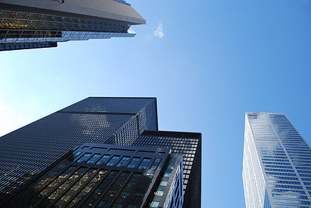 acer, estructura, d'alçada, tecnologia, Torre, ciutat, urbà