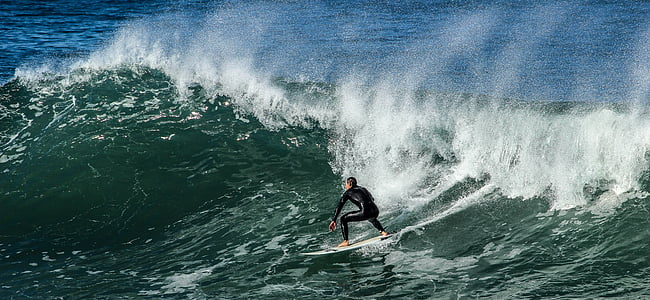 Surf, plage, mer, vagues, tablista, sable, sport
