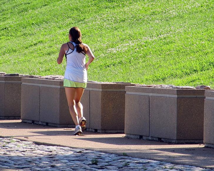 Jogger, skriešanas, fitnesa, uzdevums, palaist, darbojas, treniņa