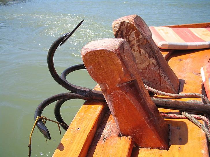 čoln, morje, sidro, kovine, Dostava, poletje, vode