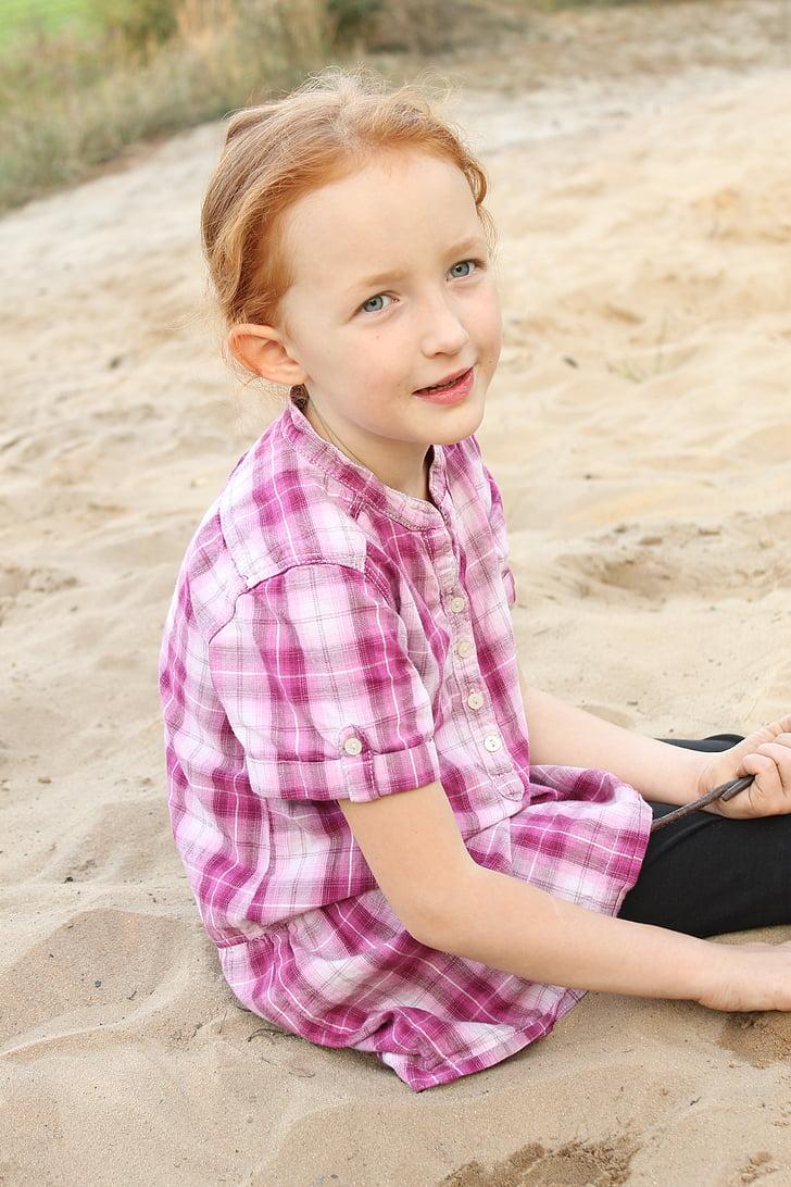 summer, children, holidays, unconcern, sand
