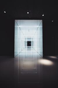 arhitektuur, hoone, struktuur, loomine, disain, sümmeetria, valgustatud