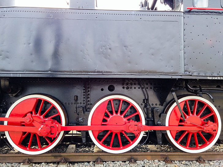 locomotive, train, wheels, rails, railway, steam locomotive, historic vehicle