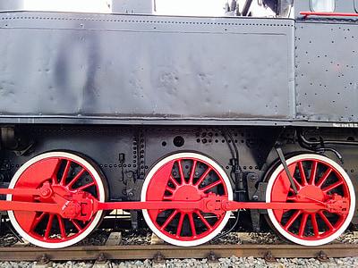 locomotive, train, wheels, rails, railway, steam locomotive, historic vehicle