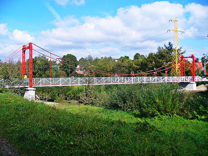 bridge, building, steel frame, architecture, view, fence bay, the design of the