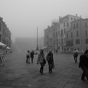 Італія, Венеція, Венеція вранці, туман, краєвид, тихий, Світанок