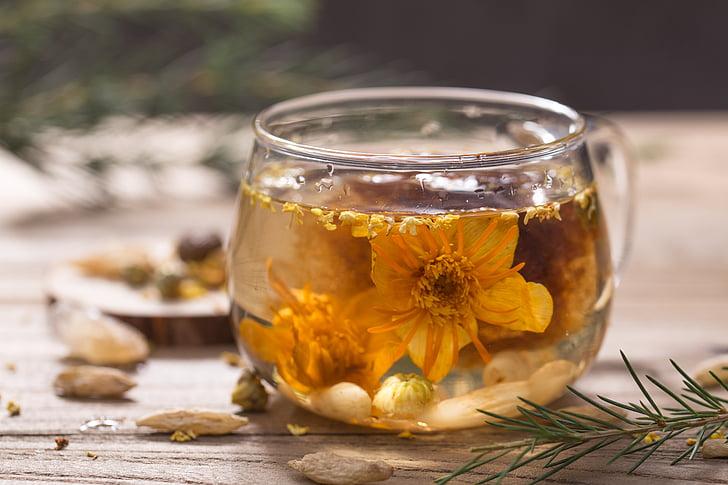 Yun niang tươi trong tâm trí, trà thơm, vẫn còn sống, thực phẩm và đồ uống, Hoa, jar, trà - nóng đồ uống