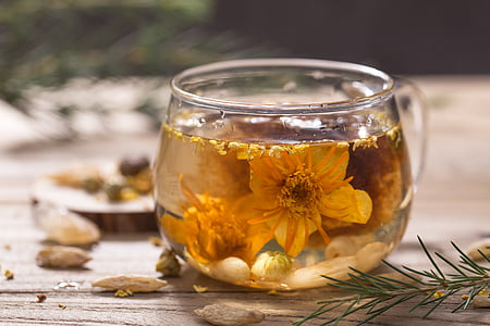 Yun niang fresco nella mente, tè al gelsomino, natura morta, cibo e bevande, fiore, vaso, tè - bevanda calda