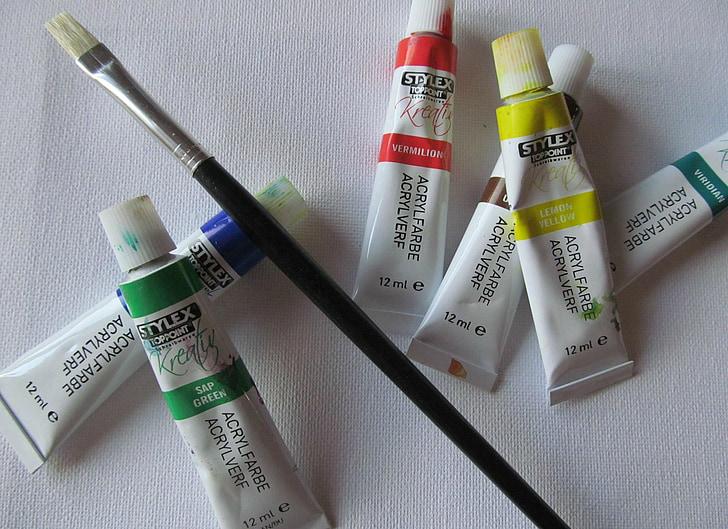 color, pintura, raspall, colors, llenç, artistes, Art