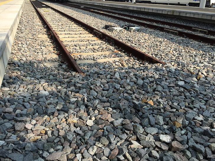 la línia de ferrocarril, Inici, al final, Gil