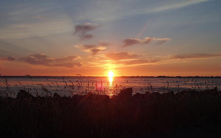 ηλιοβασίλεμα, πίσω φως, abendstimmung, απογευματινό ήλιο, Βατ, Ήλιος