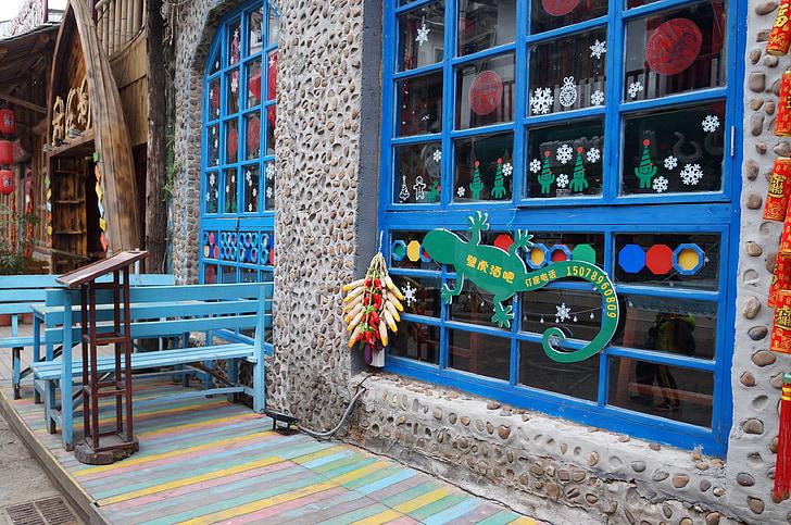 gatvės vaizdas, dekoracijos, medžiaga, paprastas