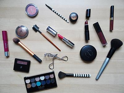 maquillatge, llapis de llavis, maquillatge, Fundació, cosmètica, pols, raspall