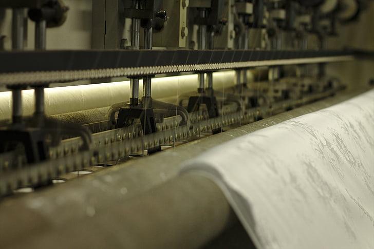 brodador, cosir, tela, teixit, fabricació, producció, màquina