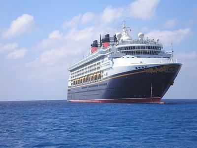 корабель, Дісней, свято, на якорі, Кайман острови, круїз, море