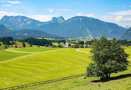 Allgäu, Eisenberg, Ostallgäu, Bajorország, hegyek, hegység, bajor Alpokban