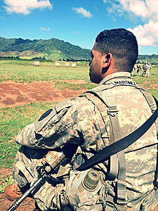 soldier, military, uniform, army, armed, camouflage, american force