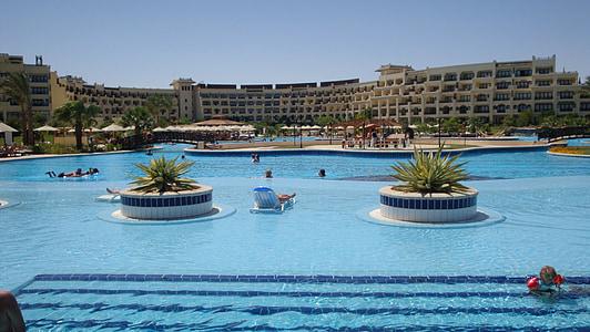 Pool, Hotel, Urlaub, Wasser, Blau, Entspannen Sie sich