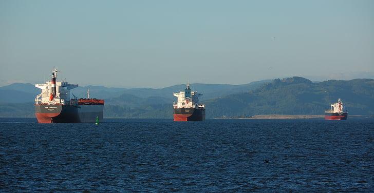 fragtskibe, Fragt, skibe, Fragt, Harbor, transport, båd