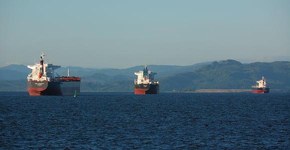 lastfartyg, Cargo, fartyg, Frakt, hamnen, transport, båt